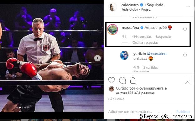 Grazi Massafera deixa comentário com elogio em foto de Caio Castro