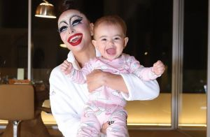 Sabrina Sato mostra reação de Zoe ao vê-la com maquiagem de Halloween. Foto!