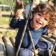 Sheron Menezzes declarou-se a Benjamin por aniversário de 2 anos: 'Pedaço meu'