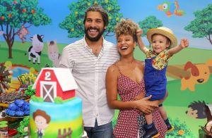 Sheron Menezzes comemora 2 anos do filho, Benjamin: 'Passarinho da mamãe'