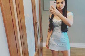 Maraisa evidencia corpo definido com vestido bandage: 'Bem menininha'
