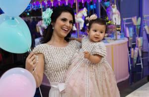 Aline Barros festeja o primeiro aniversário da filha, Maria Catherine