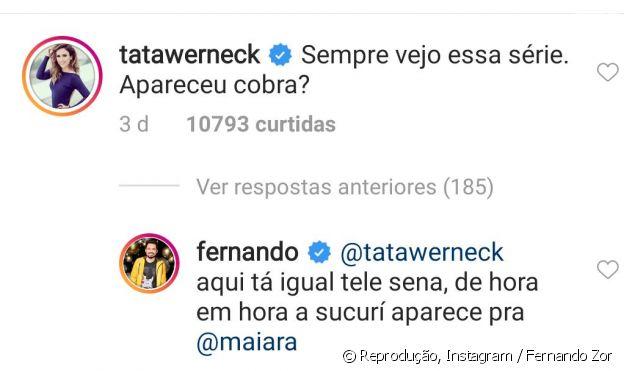 Fernando Zor faz piada sobre sexo com Maiara