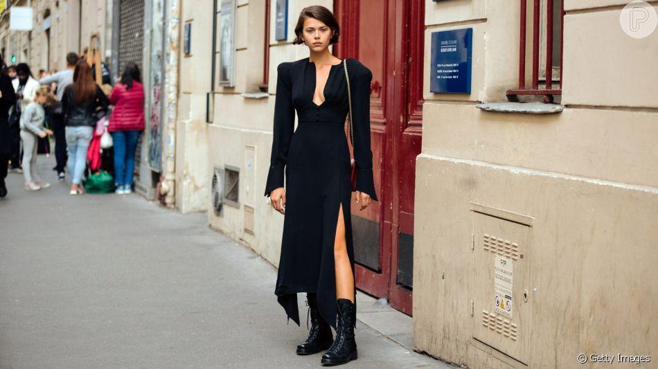 Vestido com coturno: a combinação queridinha entre as fashion girls é perfeita para looks de meia-estação!