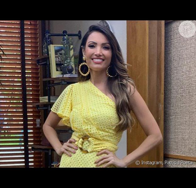 Vestido de Patricia Poeta inspira para moda de verão: look foi usado no programa 'É de Casa' deste sábado, 16 de novembro de 2019