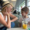 Ana Hickmann viajou de férias com o filho, Alexandre Jr., para o Caribe