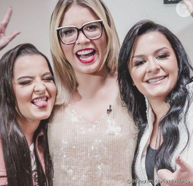 Maiara, Maraisa e Maríia Mendonça se divertiram com homenagem inusitada