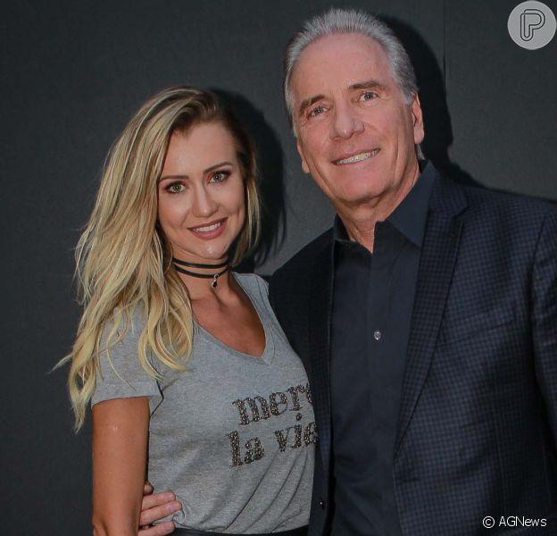 Mulher de Roberto Justus, Ana Paula Siebert está grávida do primeiro filho do apresentador