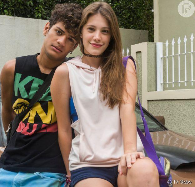 Anjinha (Caroline Dallarosa) fica arrasada quando descobre que Cléber (Gabriel Santana) vai se mudar para a Bahia na novela 'Malhação: Toda Forma de Amar'