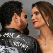 Luciano Camargo surpreende mulher com jaqueta personalizada com seu rosto. Veja!