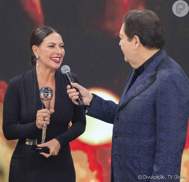 Fabíula Nascimento conquista categoria de Melhor Atriz Coadjuvante no Melhores do Ano 2019, realizado no programa 'Domingão do Faustão', neste domingo, 15 de dezembro de 2019