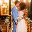 O casamento de Jennifer Nascimento e Jean Amorim foi marcado pelo romantismo
