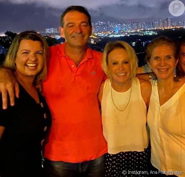Ana Maria Braga leva namorado,Johnny Lucet, à festa de fim de ano do 'Mais Você'