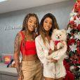 Ludmilla apostou na tendência da calça cargo para o look de Natal, enquanto Rafaela Silva usou um look todo branco para a ceia