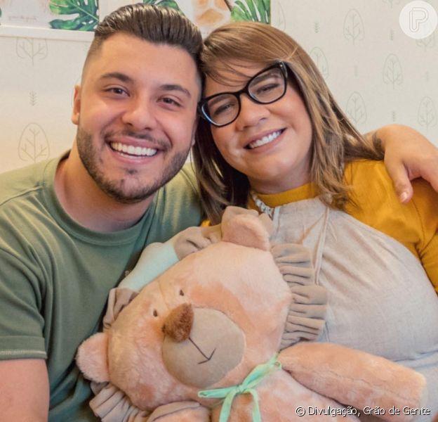 Filho de Murilo Huff e Marília Mendonça, Léo diverte pai com caras e bocas em fotos postadas nesta terça-feira, dia 07 de janeiro de 2019