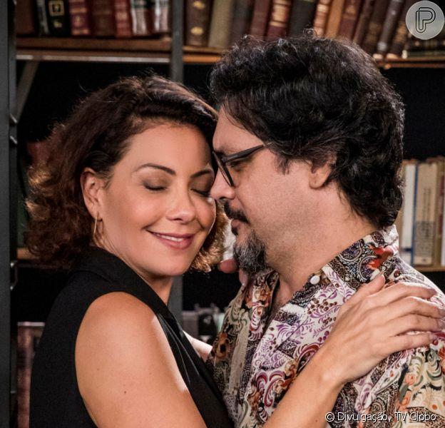 Nos últimos capítulos da novela 'Bom Sucesso', Nana (Fabiula Nascimento) descobre nova gravidez e batiza filho com nome do pai, Alberto (Antonio Fagundes)