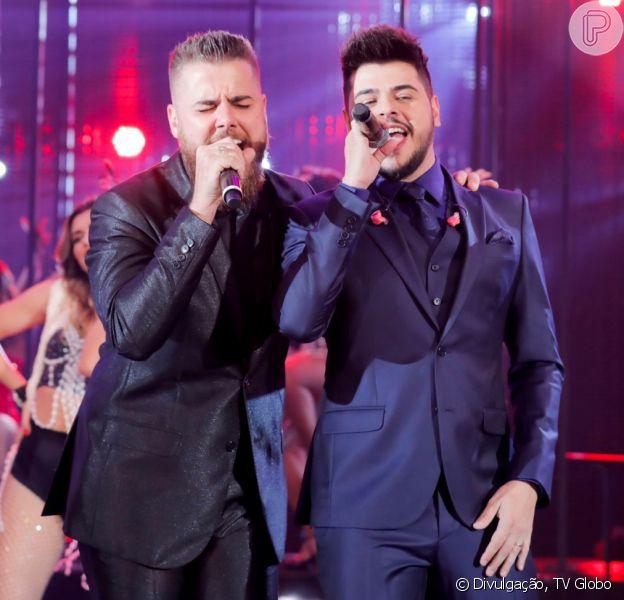 Zé Neto e Cristiano fazem show noBaile da Santinha, projeto do cantor Léo Santana, no Wet'n Wild, em Salvador, na madrugada deste sábado, 18 de janeiro de 2019