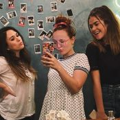 Larissa Manoela e Maisa vão à casa de Tatá Werneck: 'Titias visitando a Clara'