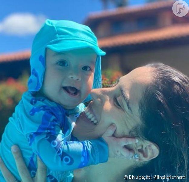 Filho de Camilla Camargo, Joaquim ganhou homenagem da mãe ao completar 6 meses: 'Minha vida, meu mundinho, meu sentido de ser'