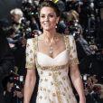 Kate Middleton elege vestido com brilho para premiação com Príncipe William neste domingo, dia 02 de fevereiro de 2020