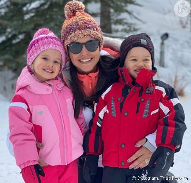 Thais Fersoza fica surpresa com resposta da filha, Melinda, ao relatar perrengue nesta segunda-feira, dia 03 de fevereiro de 2020