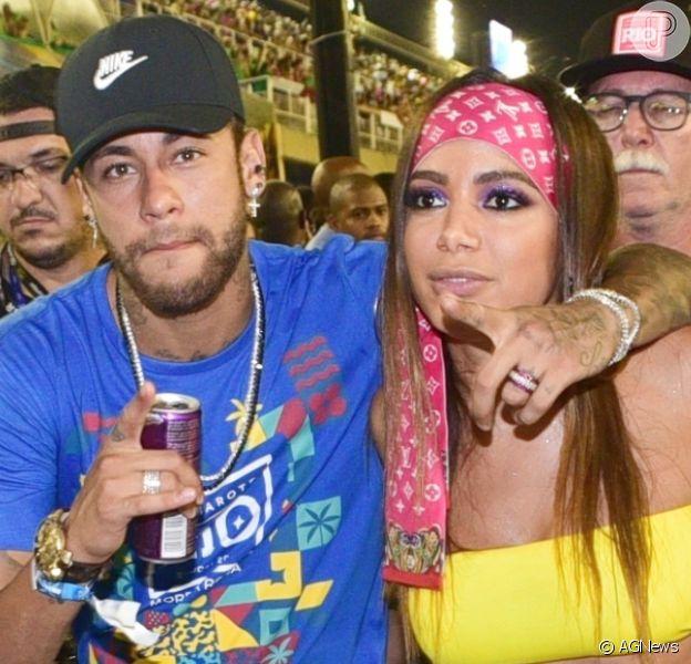 Anitta parabeniza Neymar pelos 28 anos do jogador: 'Atrasada, mas de te amo. Feliz aniversário'