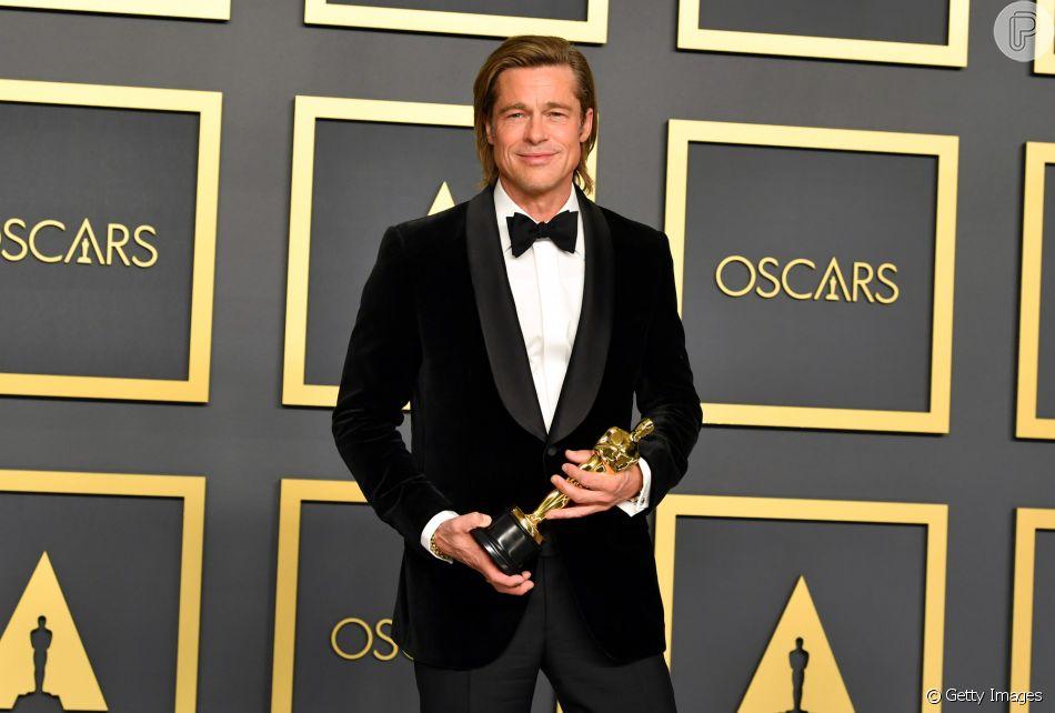Brad Pitt ganhou uma estatueta do Oscar pela primeira vez como ator