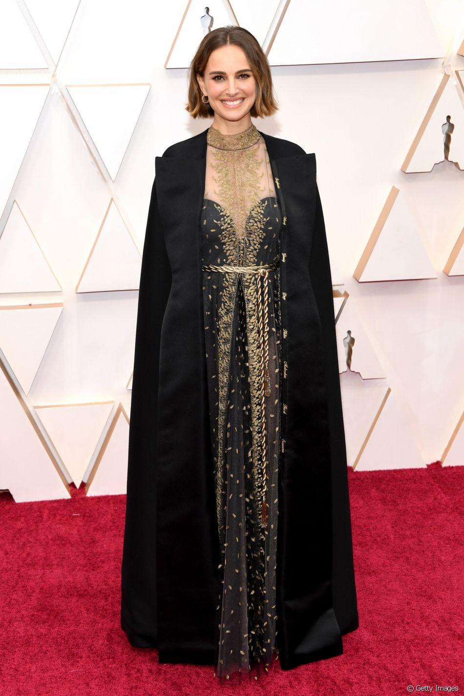 Natalie Portman apostou em um vestido Dior para o Oscar 2020