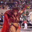 Viviane Araujo mostrou muito samba no pé no desfile de carnaval da Mancha Verde na madrugada deste sábado, 22 de fevereiro de 2020