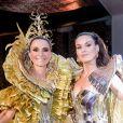 Camila Queiroz arrasou no Baile do Copa ao lado de Andrea Natal