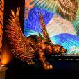 Detalhe da decoração do Baile do Copa de carnaval 2020