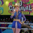 Claudia Leitte canta no Circuito Campo Grande, em Salvador.