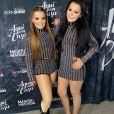 Maiara e Maraisa exibiram corpo mais magro em look curto