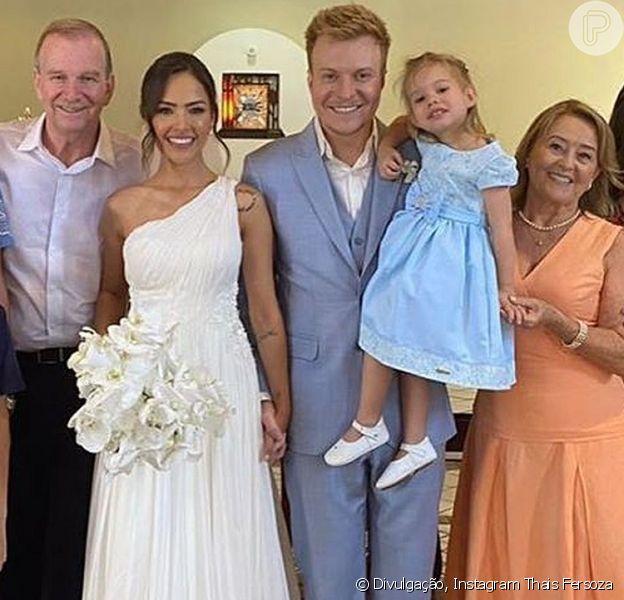 Melinda roubou a cena no casamento de Gabi Luthai e Teo Telo neste domingo, 1 de março de 2020