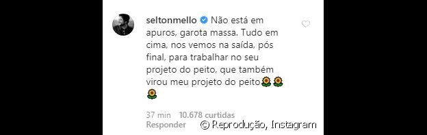 Selton Mello declara torcida por Manu Gavassi