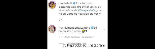Marília Mendonça opina sobre semelhança do namorado com o filho em foto