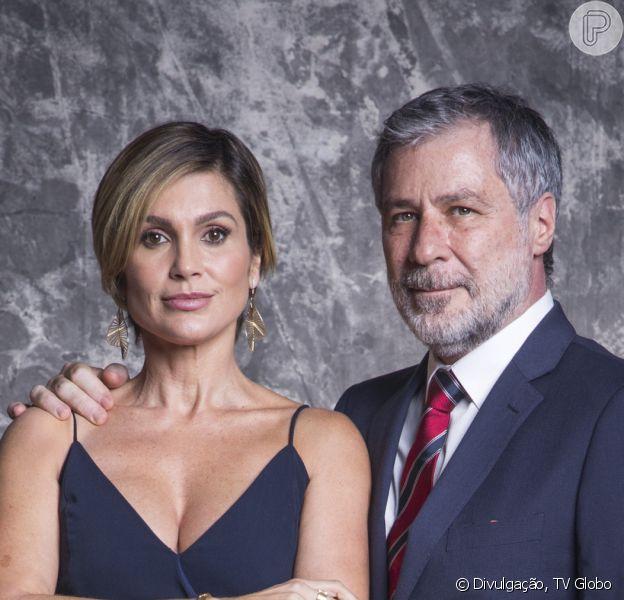 Novela 'Salve-se Quem Puder': Hugo (Leopoldo Pacheco) armou para separar Helena (Flávia Alessandra) da filha, Luna (Juliana Paiva)