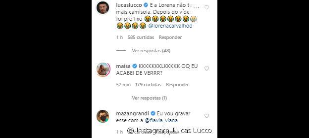 Amigos famosos de Lucas Lucco comentam em vídeo do cantor com a noiva