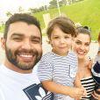 Andressa Suita e Gusttavo Lima são pais de  Gabriel, de 2 anos, e Samuel, de 1