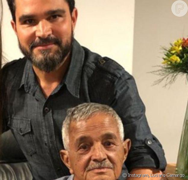 Luciano Camargo comemorou a recuperação do pai, Francisco, após internação: 'Milagre de Deus'