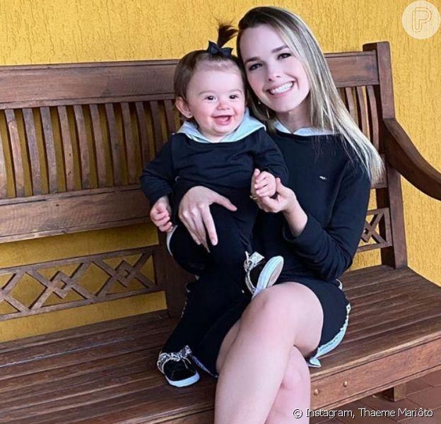 Thaeme Mariôto lamenta ataques à filha, Liz, de 1 ano