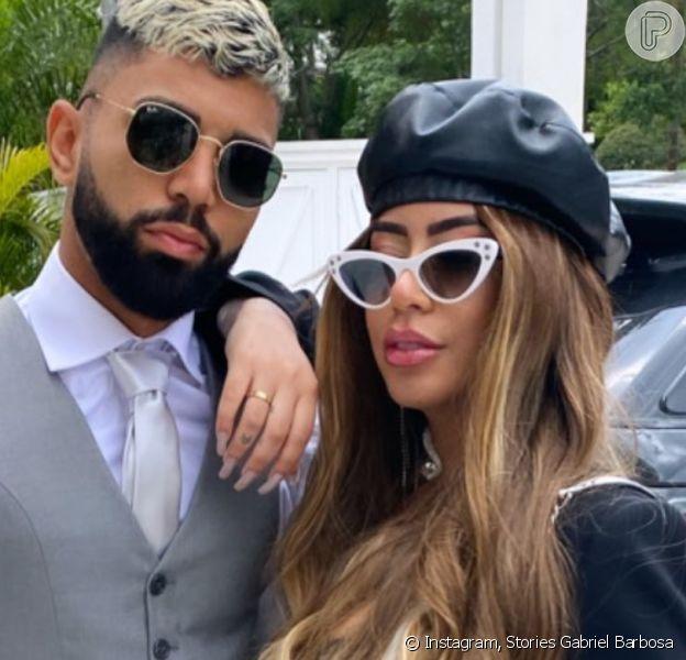 Gabigol recebeu Rafaella Santos em sua festa de aniversário neste domingo, 30 de agosto de 2020
