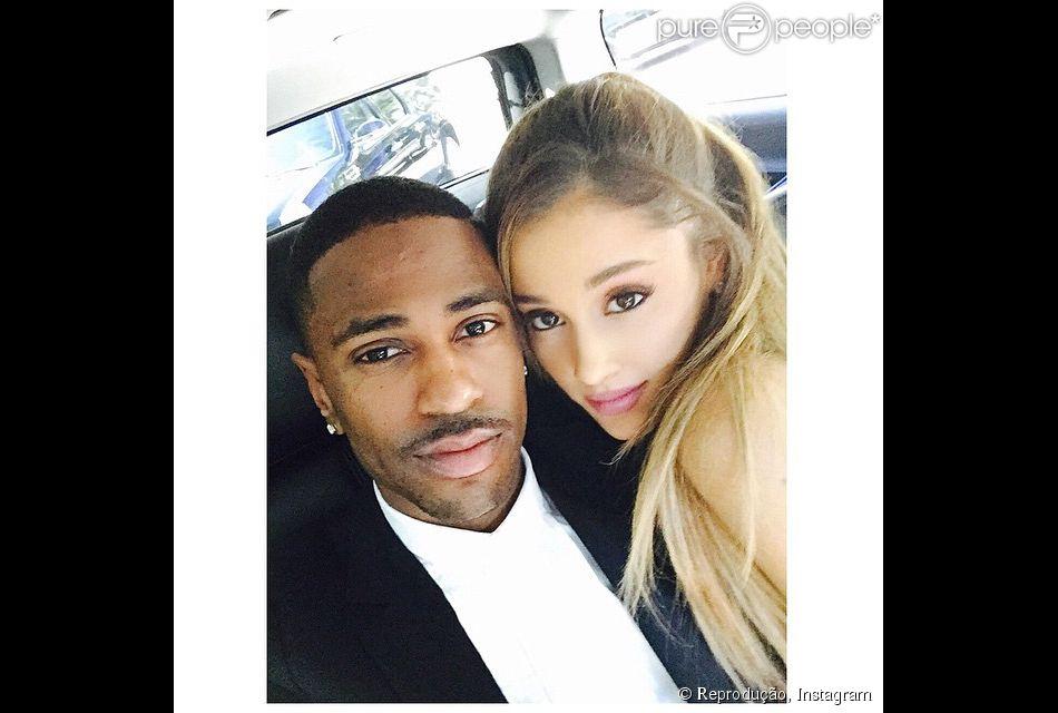 Ariana Grande e Big Sean aparecem pela primeira vez posando juntos para fotos depois de assumirem o namoro, em 3 de novembro de 2014
