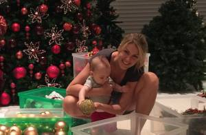 Ana Hickmann decora casa para primeiro Natal ao lado do filho, Alexandre Jr.