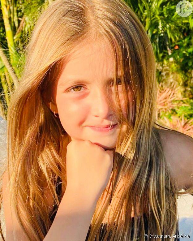 Angélica posta fotos inéditas da filha, Eva, que completou 8 anos