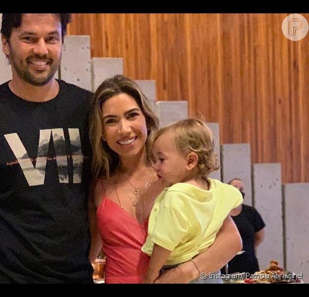 Patricia Abravanel se comparou ao filho caçula, Senor, de 1 ano: 'Olha o olho dele! Igual ao da mamãe!'