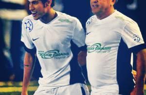 Neymar posta foto com Zico em homenagem ao aniversário do Galinho de Quintino