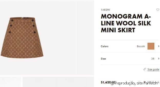 A saia usada por Anitta é da grife Louis Vuitton