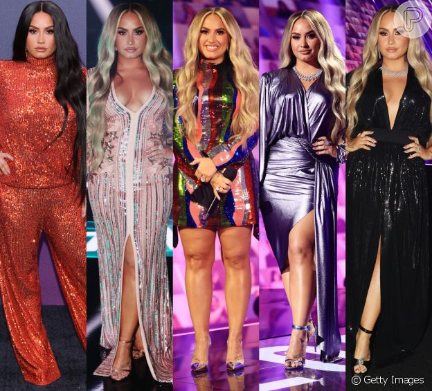 Demi Lovato troca de roupa cinco vezes em premiação