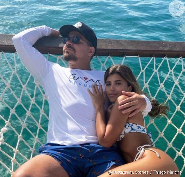 Thiago Martins reata namoro com Talita Nogueira